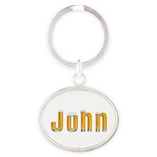 John Beer Oval Keychain