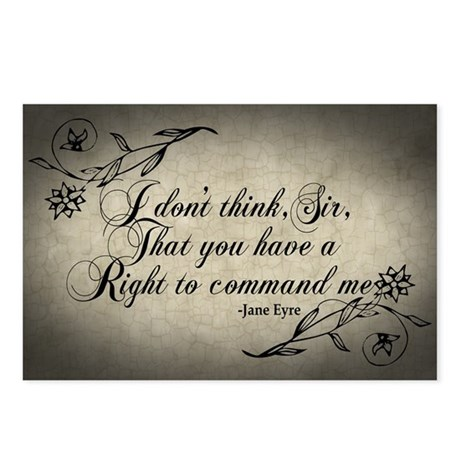 Jane Eyre No Right To Command Me Postcards (Packag