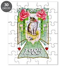 Art Deco Cat 1983, 30th Birthday Puzzle