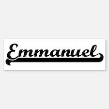 Black jersey: Emmanuel Bumper Bumper Bumper Sticker