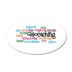 Geocaching Collage 20x12 Oval Wall Decal