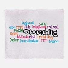 Geocaching Collage Throw Blanket