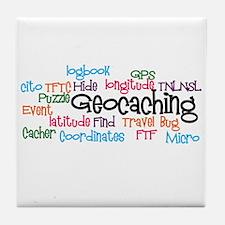 Geocaching Collage Tile Coaster