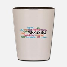 Geocaching Collage Shot Glass