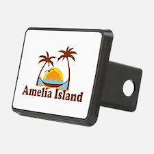 Amelia Island - Palm Trees Design. Hitch Cover