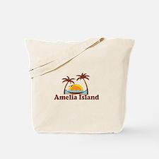 Amelia Island - Palm Trees Design. Tote Bag