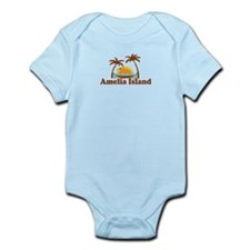 Amelia Island - Palm Trees Design. Infant Bodysuit