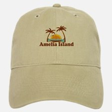 Amelia Island - Palm Trees Design. Baseball Baseball Cap