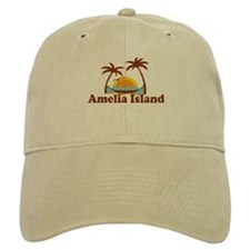 Amelia Island - Palm Trees Design. Baseball Cap