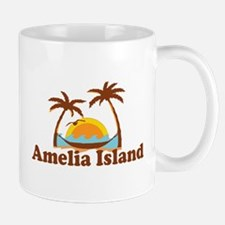 Amelia Island - Palm Trees Design. Mug