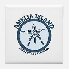 Amelia Island - Sand Dollar Design. Tile Coaster