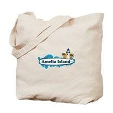 Amelia Island - Surf Design. Tote Bag
