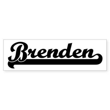Black jersey: Brenden Bumper Sticker