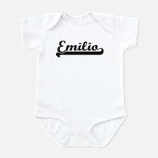 Black jersey: Emilio Infant Bodysuit