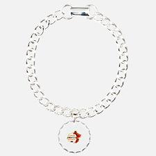 Jordanian Boyfriend designs Charm Bracelet, One Ch