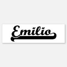 Black jersey: Emilio Bumper Bumper Bumper Sticker