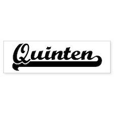 Black jersey: Quinten Bumper Bumper Sticker