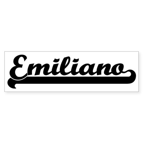Black jersey: Emiliano Bumper Sticker