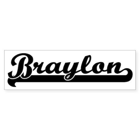 Black jersey: Braylon Bumper Sticker