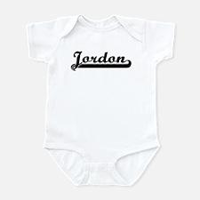 Black jersey: Jordon Infant Bodysuit
