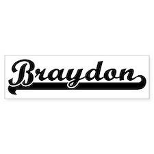 Black jersey: Braydon Bumper Bumper Sticker