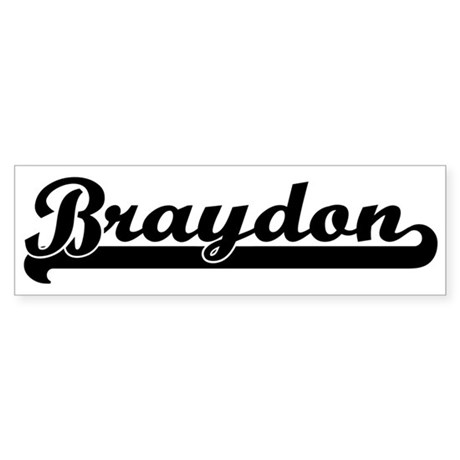 Black jersey: Braydon Bumper Sticker