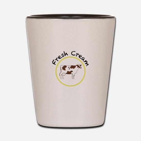 Fresh Cream with Black and Yellow Shot Glass