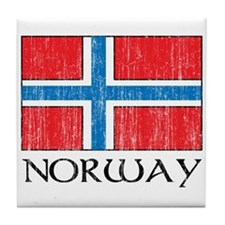 Norway Flag Tile Coaster