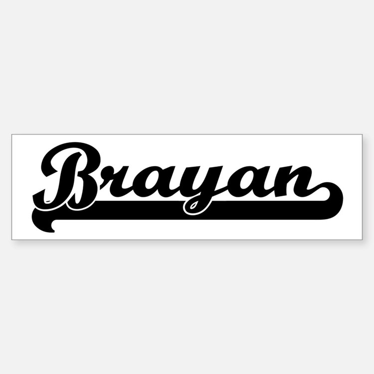Black jersey: Brayan Bumper Bumper Bumper Sticker