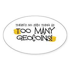 Too Many Geocoins Decal