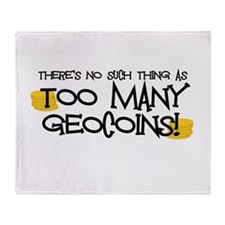 Too Many Geocoins Throw Blanket