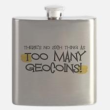 Too Many Geocoins Flask