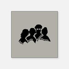 """Bronte Silhouette Square Sticker 3"""" x 3"""""""