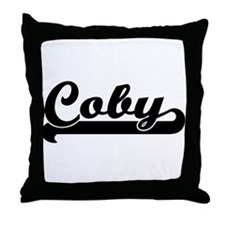 Black jersey: Coby Throw Pillow