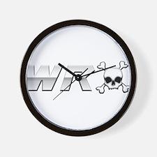 WRX Skull Wall Clock