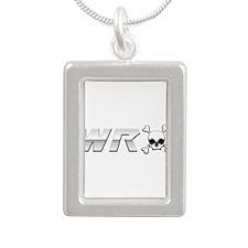 WRX Scull Silver Portrait Necklace