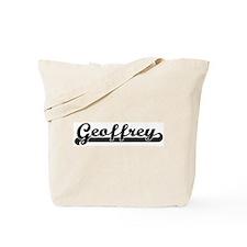 Black jersey: Geoffrey Tote Bag