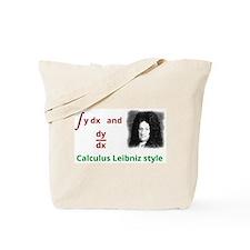 Calculus Leibniz style Tote Bag
