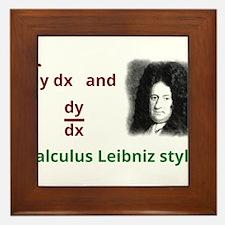Calculus Leibniz style Framed Tile