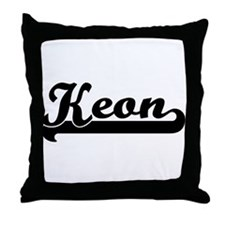 Black jersey: Keon Throw Pillow