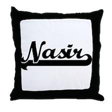 Black jersey: Nasir Throw Pillow