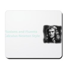 Calculus Newton Style (dark background) Mousepad