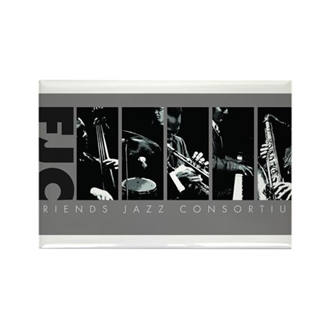 Friends Jazz Consortium in Grayscale Rectangle Mag