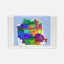 San Francisco Map Rectangle Magnet