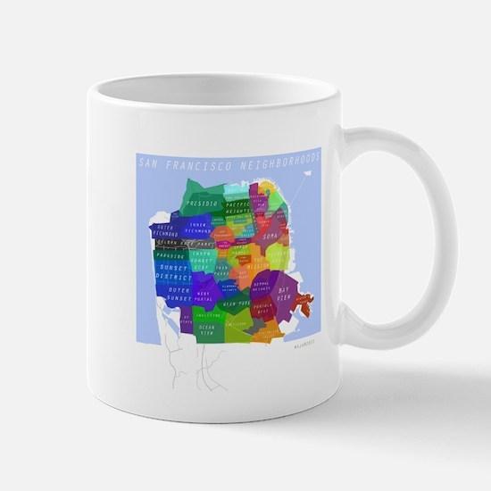 San Francisco Map Mug