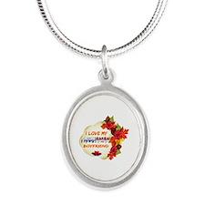 Panamanian Boyfriend designs Silver Oval Necklace