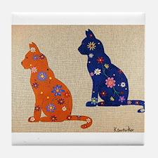 Vintage Cats Tile Coaster