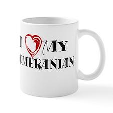 I Heart My Pomeranian Mug