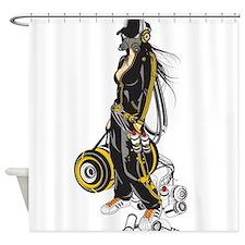 Graffiti beats Shower Curtain