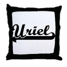 Black jersey: Uriel Throw Pillow
